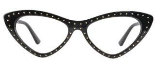 95130 Yamilet Cateye,Geometric black glasses