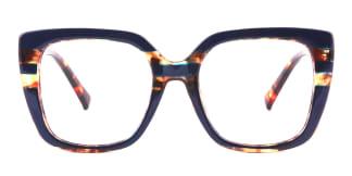 95165 Dixie Rectangle blue glasses