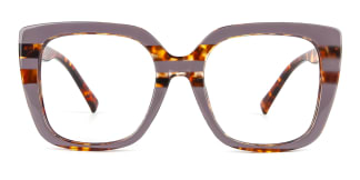 95165 Dixie Rectangle purple glasses