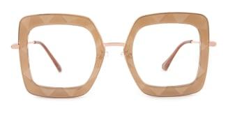 95255 Teresa Geometric brown glasses