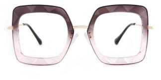 95255 Teresa Geometric purple glasses