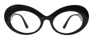 95522 Finnguala Oval black glasses