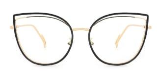 95597 Ondine Cateye black glasses