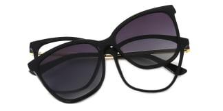 95655 AmiAmie Rectangle black glasses
