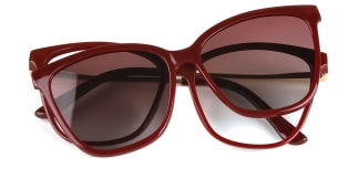 95655 AmiAmie Rectangle red glasses