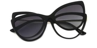 95658 Anabella Cateye black glasses