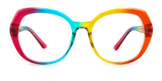 95930 Percia Geometric multicolor glasses