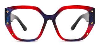 9619 Amira Geometric red glasses