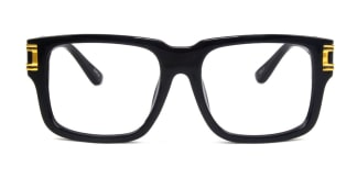 97130 Riggs Rectangle black glasses
