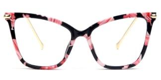 97152 Aldis Cateye,Butterfly floral glasses
