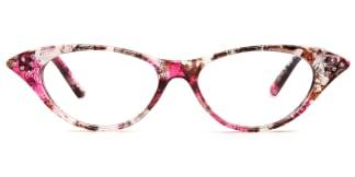 9721 Valerie Cateye floral glasses
