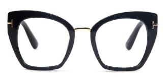 97356 India Cateye black glasses