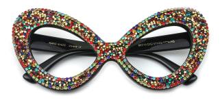 98020 Ziggy Cateye black glasses