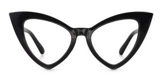 98044 dominic Cateye black glasses