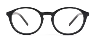 9830 Marty Oval black glasses