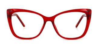 A-2001 Kacie Rectangle red glasses