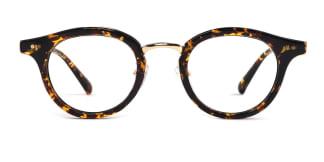 A-8651 Joanna Round tortoiseshell glasses