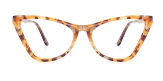 A01 Norah Cateye yellow glasses