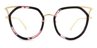 B163 Emera Cateye floral glasses