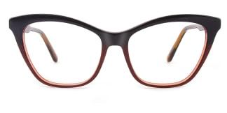 B2926 melissa Cateye brown glasses