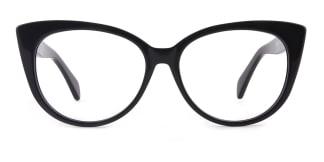 B2928 deborah Cateye black glasses