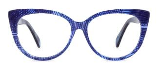 B2928 deborah Cateye blue glasses