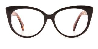 B2928 deborah Cateye brown glasses