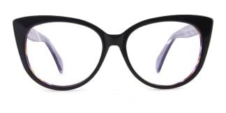 B2928 deborah Cateye purple glasses