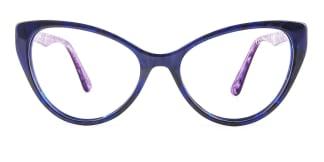 B2929 miranda Cateye blue glasses