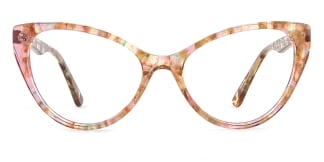 B2929 miranda Cateye floral glasses