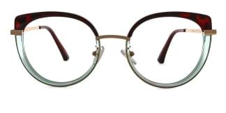 B610 Regan Cateye green glasses