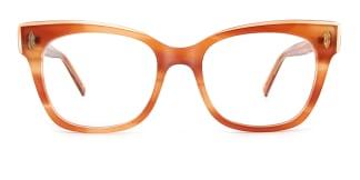C1058 miriam Rectangle brown glasses