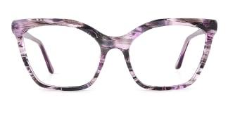 C1077-1 Nanna Cateye purple glasses