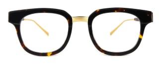 C77001 Amalie Rectangle tortoiseshell glasses