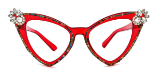 D98044 Florance Cateye red glasses