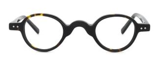 DC8050 Gayle Round tortoiseshell glasses