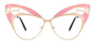 E1135 Angelique Cateye pink glasses