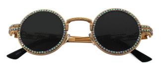 E8010 Jeana Round gold glasses