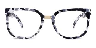 F062 Sophie Rectangle white glasses