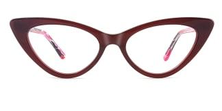 F2151 philomena Cateye brown glasses