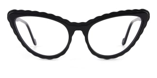 F2226-1 erica Cateye black glasses