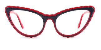 F2226-1 erica Cateye red glasses
