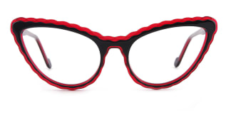 F2226 elsa Cateye red glasses