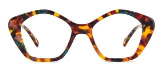 F4534 Dalit Geometric floral glasses