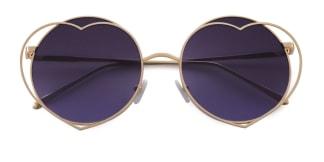 F7313 Karyn  gold glasses