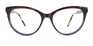 H0054 quentina Cateye brown glasses
