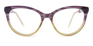 H0054 quentina Cateye purple glasses