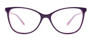 H0380 STACY Rectangle purple glasses