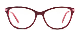 H0537 Sharon Rectangle red glasses