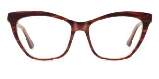 HL0048 Hazel Cateye brown glasses